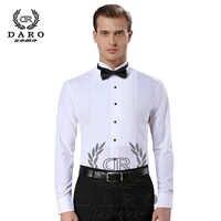 New Arrival fashion cotton men's shirts long sleeve pure color male tuxedo shirt camisas hombre DR883
