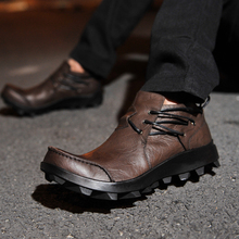 Casual Genuine Leather oxfords Shoes Fashion Male British Breathable Punk Style Party  6#15/15D50