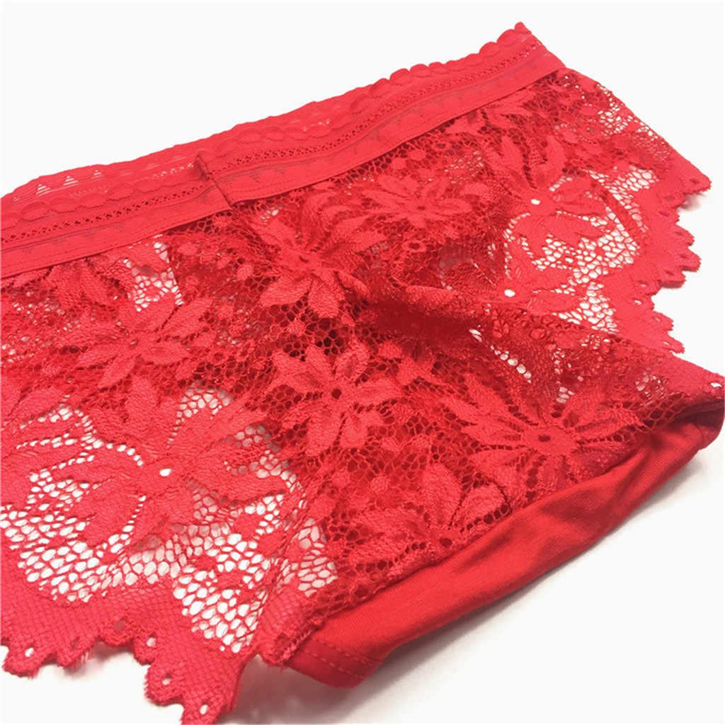 תחרה מלאה שקוף תחתוני נשים סקסי תחתוני נשים תחתונים קצר נשים חלקה bragas mujer #3