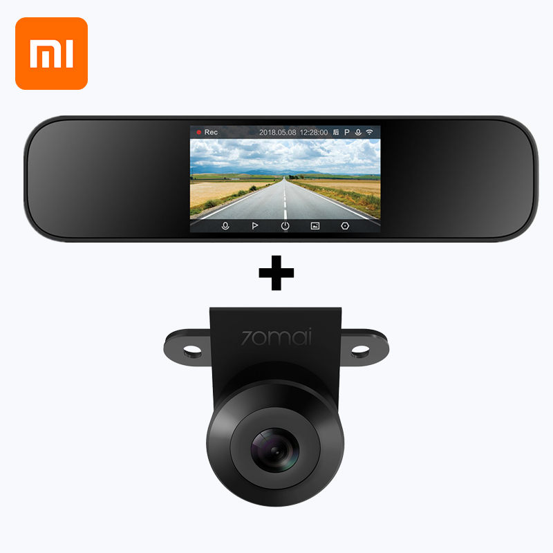 Xiaomi Mijia Driving Recorder Rear View Mirror Car Camera 1080P HD Smart Camera With 720P HD Night Reverse Car Camera