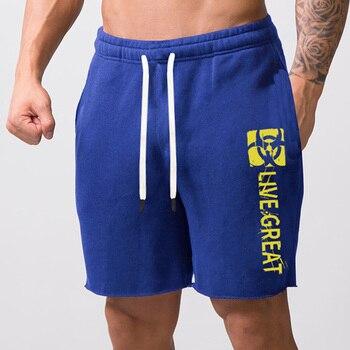 Men's Casual Cotton jogger Shorts men Sexy Sweatpants Male Fitness Bodybuilding Workout Man Fashion Loose shorts large size 5XL 4