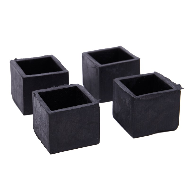 Hot Sale 4pcs 25x25mm Square Floor Protector Table Chair Foot Leg End Tip Pad