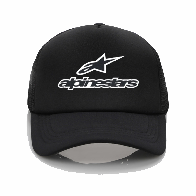 Alpine Star Printed Baseball Cap Men Women Cool Summer Mesh Trucker Cap Fashion Adjustable Snapback Hats
