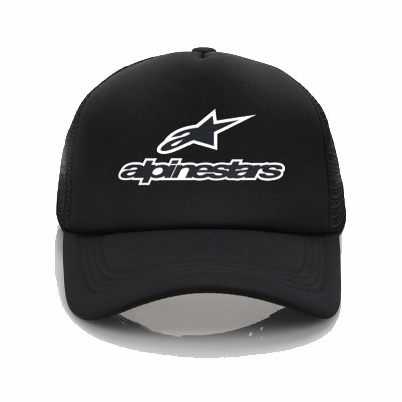 Alpine Star Printed Baseball Cap Men Women Cool Summer Mesh Trucker Cap Fashion Adjustable Snapback Hats