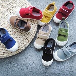 Image 1 - ฤดูใบไม้ผลิฤดูใบไม้ร่วง 2020 เด็กใหม่น้ำล้างผ้าใบรองเท้าเด็กชายและเด็กหญิงโรงเรียนรองเท้าSuperนุ่มสบายรองเท้าผ้าใบ