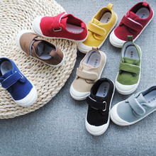 Spring Autumn 2020 New Childrens Water washed Canvas Shoes Boys and Girls School Casual Shoes Super Soft Comfortable Sneakers