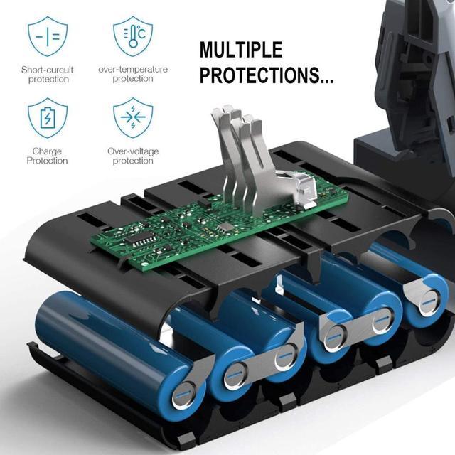21.6V 6000mAh Replacement Battery for Dyson Li-ion Vacuum Cleaner SV09 SV07 SV03 DC58 DC61 DC62 DC74 V6 965874-02 Animal Battery 4