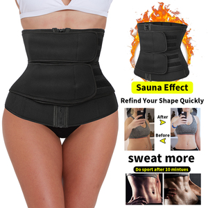 Image 5 - Waist Trainer Steel Boned Body Shaper Cincher Sauna Sweat Faja Sport Girdle modeling strap tummy shaper slimming belt corset