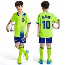 Free socks Teen football jersey Sets soccer uniforms soccer Joursey Sport set Custom Children's football shirt Sportswear Kits