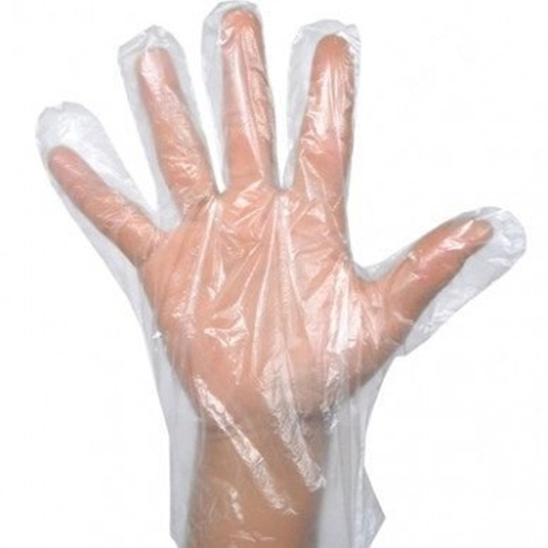 100Pcs  Disposable Gloves One-off Plastic Glove Clear Disposable Food Gloves For Hand Protection Cleaning Gloves