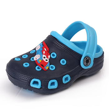 Girls Shoes Boys Clogs Baby Garden Shoes Cute Cartoon Kids Sandals EVA  Water Shoes Breathable Toddler Shoes Girl Slippers-Leather bag