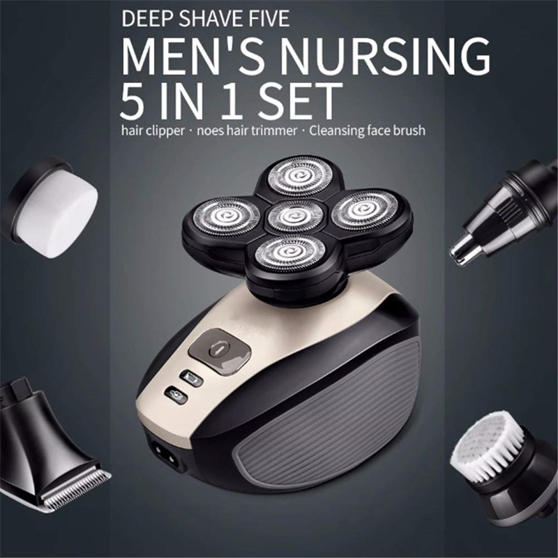 Electric Shaver Razor  Shaving Machine Rechargeable 3D Trimmer 5 In 1 Shaver Nose Hair Trimmer Eletric Shaver Razor Rechargable