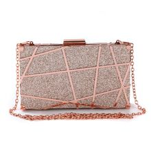 Fashionable Women Evening Shoulder Bag Bridal Metal Hollow Design Clutch Party Prom Wedding Crossbody Handbag Purse