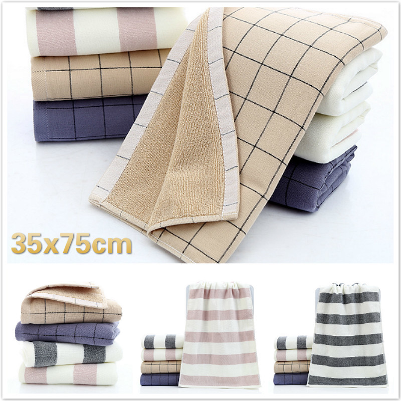 England Style Striped Plaid Cotton Soft Gauze School Travel Portable Washcloth Winter Swimming Warm Towel Gym Yoga Gift