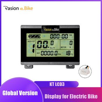Rower elektryczny wyświetlacz e rowerów KT LCD3 wyświetlacz dla kontroler KT 24V 36V 48V e rower wyświetlacz do roweru elektrycznego tanie i dobre opinie pasion e bike CN (pochodzenie) DISPLAY LCD3 EBike Display 24V 36V 48V 52V KT Controller PASIONEBIKE Controller