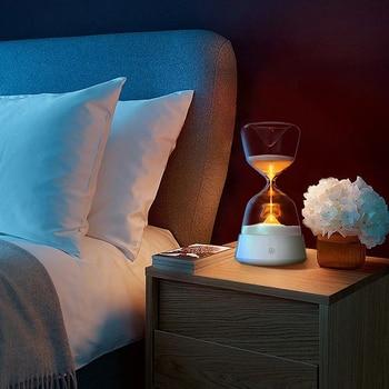 LED hourglass night light 15 minutes timer 4 color changes rechargeable desktop decoration light недорого