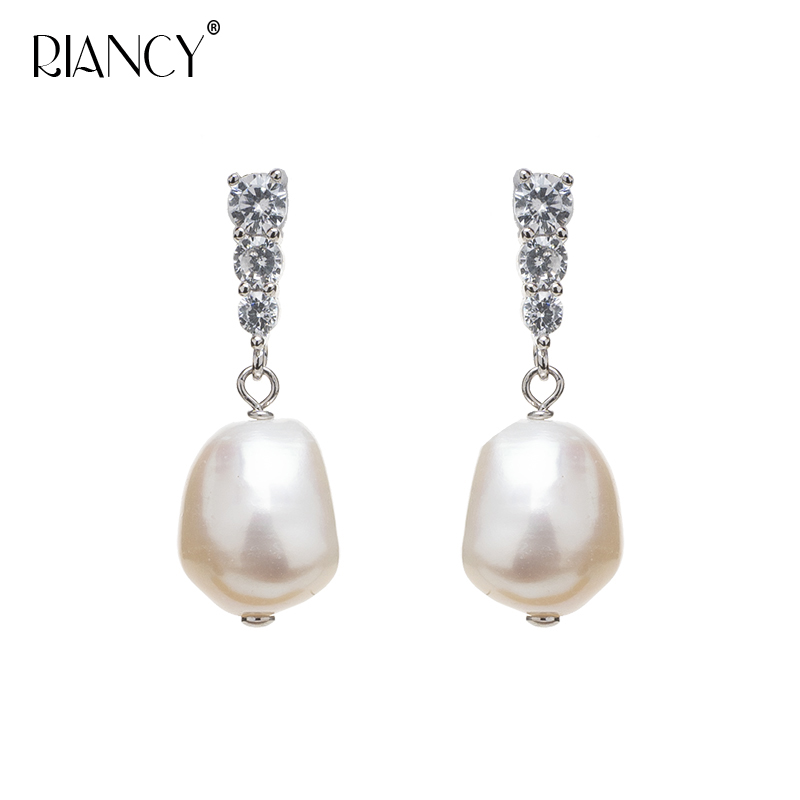 Fashion Natural freshwater Baroque Pearl Earrings For Women Handmade make Bohemian style pearl Jewelry Party Gift