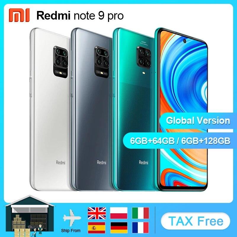Versão global xiaomi redmi nota 9 pro 6gb 64/128gb nfc smartphone android snapdragon 720g telefone móvel 6.67