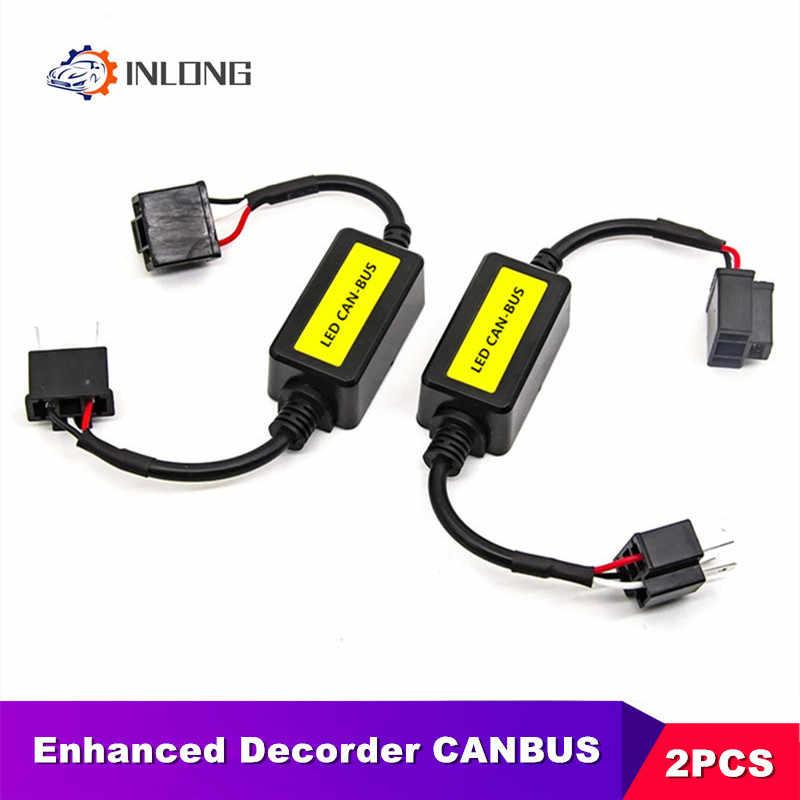 INLONG ข้อผิดพลาดฟรี CANbus ถอดรหัสสำหรับ H7 LED ไฟหน้ารถ SUV รถ LED หลอดไฟหมอกโคมไฟ CAN-BUS h4 H8 H11 H13 9005/HB3 9006/HB4