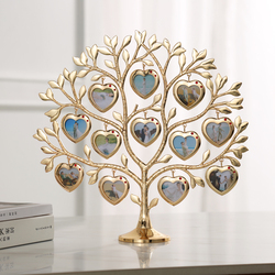 Rhinestone Family Tree Photo Frame Tree Shape Frame Picture Frames Christmas Gift Creative Home Souvenir 12 Pic 1.5x1.5 inch