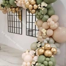 Decor-Supplies Balloon Garland Party-Balloons Globals Green Birthday Retro 117pcs Shower