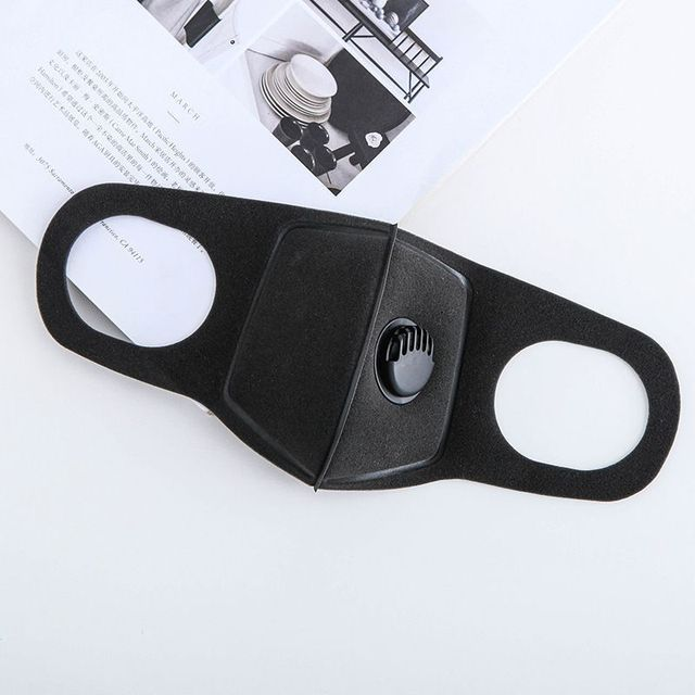 1pc Unisex Black Anti Dust Mask PM2.5 Breathing Filter Valve Face Mouth Masks Reusable Mouth Cover Haze Respirator 2