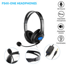s4x-one mobilephone computer games headset 3.5mm line plug wired headphones with micphone for PC, Laptop, PS4, XBOX ON(China)