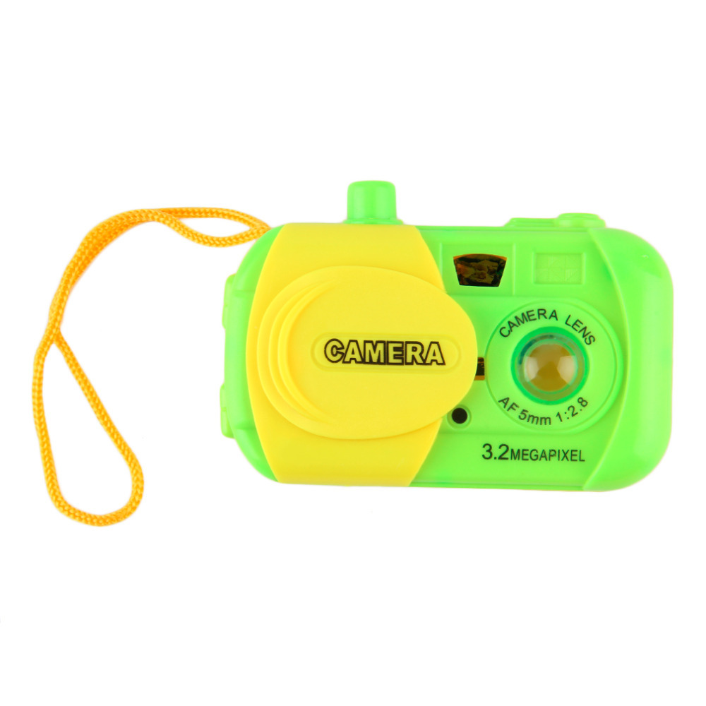 Cute Mini Plastic Cameras Toys For Toddler Baby Toys Fashion Green Simulation Camera For Kids Baby Gift Ptetend Educational Toy