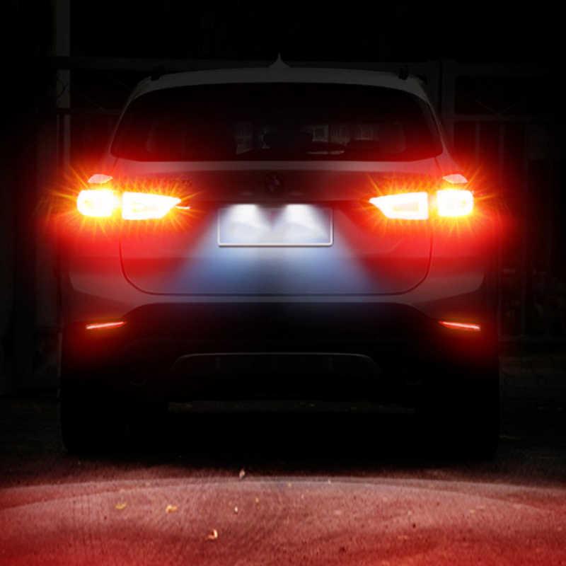 Ampoules pour voitures, pour clignotant automatique, lampe de frein inversée 12V DC rouge, 1X, Super lumineux S25 1156 BA15S 1157 BAY15D P21/5W Canbus
