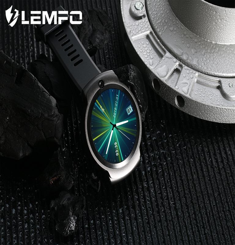 LEMFO LEM13 2MP + 8MP1.6 pulgadas Smart Watch 4G 400*400 resolución App descargar Highd pulsómetro Google Map 1280mAh capacidad