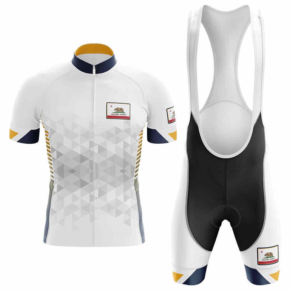 CALIFORNIA Retro Men Cycling Jersey White Road Bike Wear Ropa Ciclismo Sports