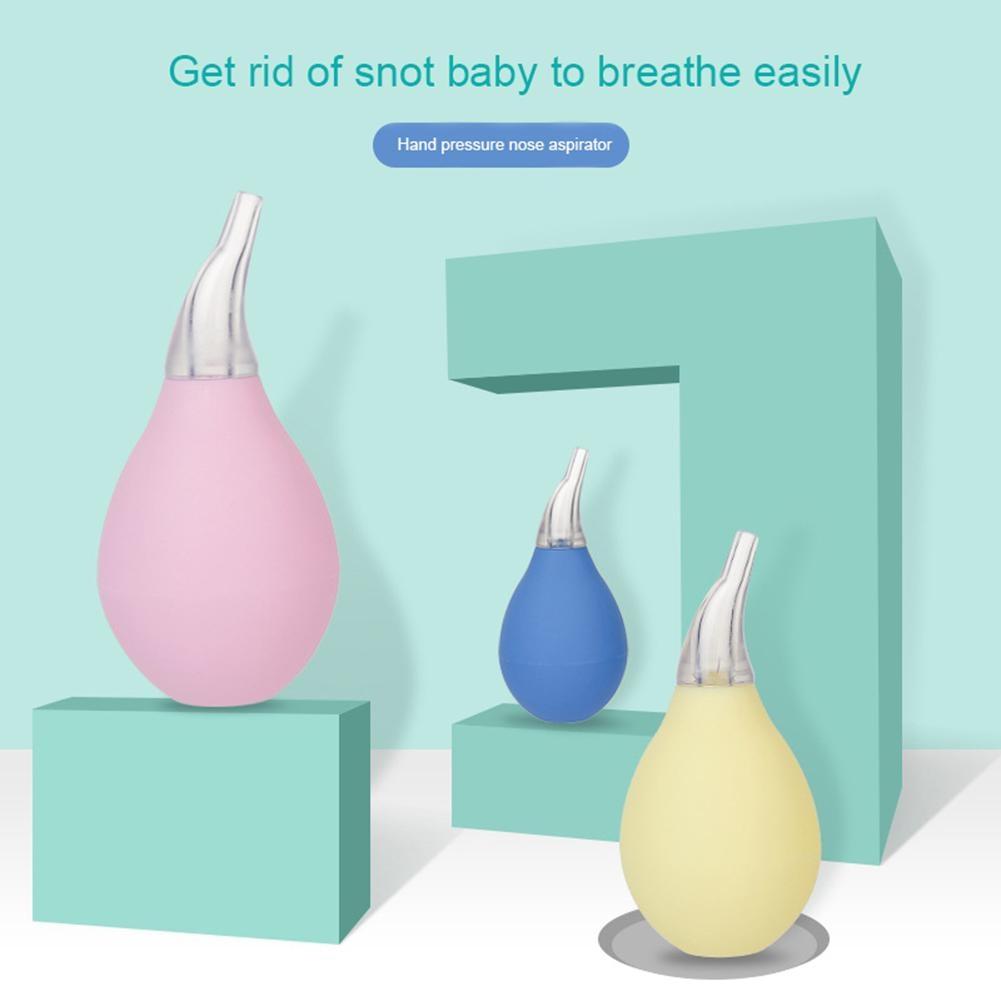 Kids Nasal Aspirator Waterdrop Manual Soft Baby Nasal Aspirator Suction Pump Safe Hygienic Nasal Aspirator Nose Cleaning Tool