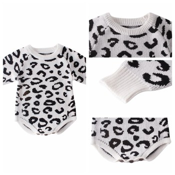 Comfortable ed Baby Clothes Newborn Baby Romper Leopard Baby Girl Romper Cotton Infant Baby Boy Romper 5