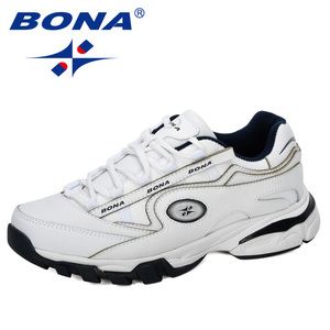 Image 5 - BONA New Popular Action Leather Running Shoes MenTrainers Sport Shoes Man Zapatillas Hombre Outdoor Sneakers Male Footwear