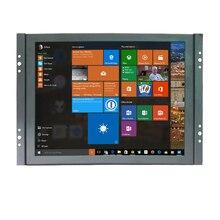 จัดส่งฟรี 8 นิ้วขนาดเล็ก 4:3 LCD Video Monitor 1024x768 VGA BNC อินพุต HDMI สำหรับ PC กล้องวงจรปิด Home Security