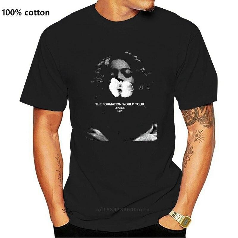 Tworzenie Tour 2016 Beyonc czarny T-shirt bawełna
