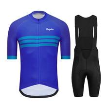 Ralvpha 2021 nova roupas de ciclismo pro bicicleta roupas wear ciclismo manga curta conjunto camisa verão estrada uniforme secagem rápida