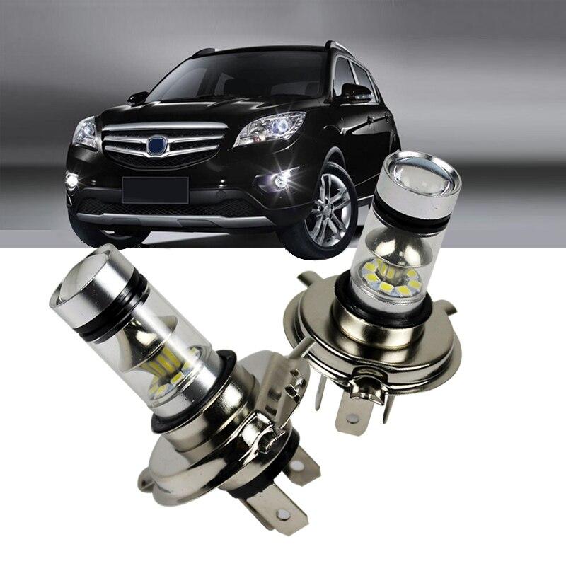 1Pcs H 4 H 7 LED Cars Bulb 100W 6500K 12-24V Autos 20led Fog Light Driving Lamp 1000LM Headlight White
