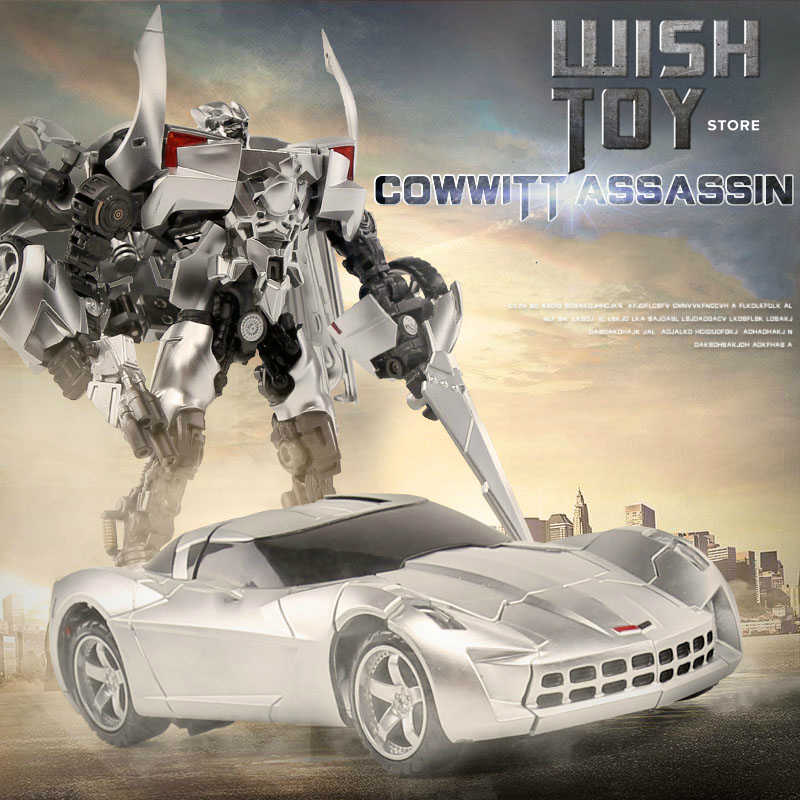 Transformation Toys Sideswipe Black Mamba G1 LS08 LS-08 Alloy Model Movie Anime <font><b>Action</b></font> <font><b>Figure</b></font> Robot Kids Toy Collection Gifts image