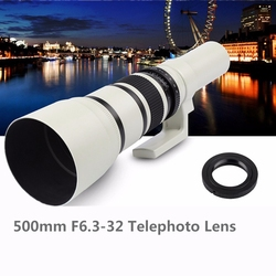 500mm F6.3-32 Telephoto Lens to & for Canon DSLR 6D, 5D Mark IV III II 1Ds 1D Series 7D II 7D 80D 70D 60D 50D 40D 760D 750D 700D