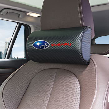1pcs New Arrival car neck pillows both side pu leather single headrest for Subaru Impreza Forester Tribeca XV BRZ