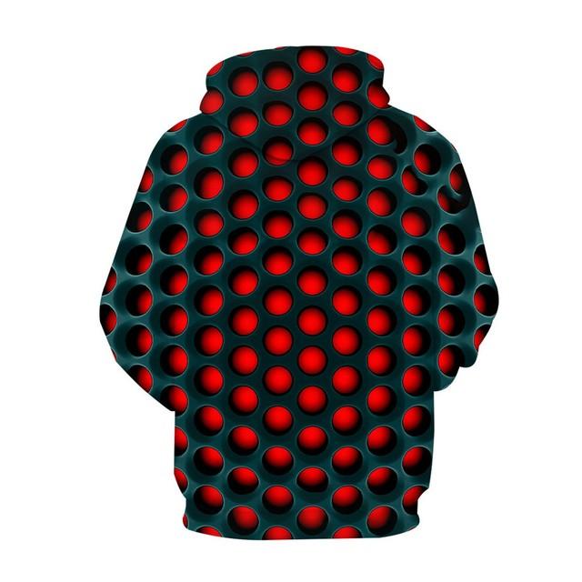 New Men's 3D Printed Hoodie, Loose Long Sleeves