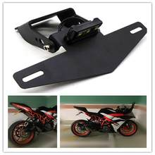 Motorcycle Light License Plate Frame Short Style Plate Frame Registration Plate Holder Bracket for KTM RC390 DUKE390 17-19-19(China)
