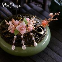 Niushuya китайский hanfu кристальная заколка для волос украшение