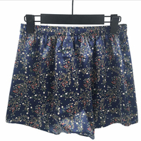 man 100 pant silk Brand 100%silk shorts men Summer Hot Men Beach Blue Printing Board Shorts Breathable Men Homme Shorts