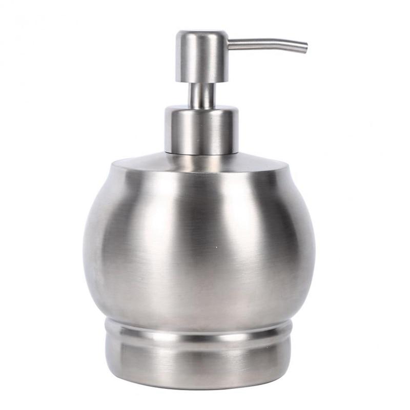 550Ml Stainless Steel Soap Dispenser Pump Lotion Bottle Kitchen Bathroom Detergent Shampoo Shower Hand Wash Bottle Pump Holder