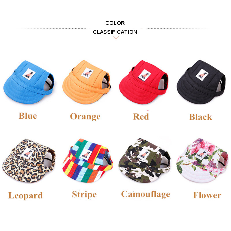 dog baseball cap color