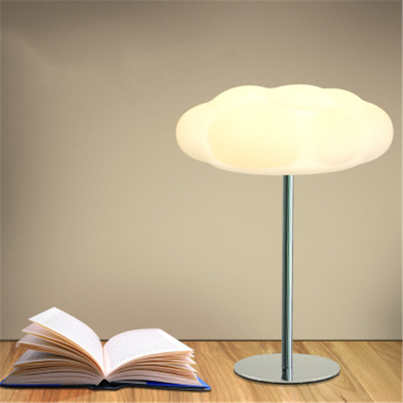 Led テーブルランプ北欧ホームベッド子供室内供給ライト目クラウドデスクランプ -