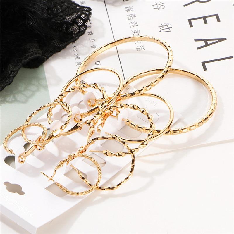 Женские серьги-кольца 9 см, большие круглые серьги, модные ювелирные изделия, роскошные круглые украшения, аксессуары в стиле стимпанка ...