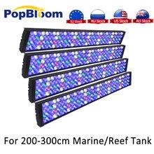 PopBloom 4PCS Aquarium LED Light LED aquarium lighting Coral Reef Marine SPS LPS Fish Tank Light Dimmable sunrise sunset MJ7BP4